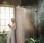 Raindance Select S 240 Showerpipe, PowderRain